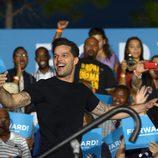 Ricky Martin haciendo campaña a Barack Obama