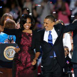 Barack Obama mira enamorado a su mujer Michelle