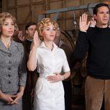 Jessica Biel, Scarlett Johansson y James D'Arcy ruedan 'Psicosis' en 'Hitchcock'