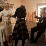 Scarlett Johansson prueba su vestuario en 'Hitchcock'