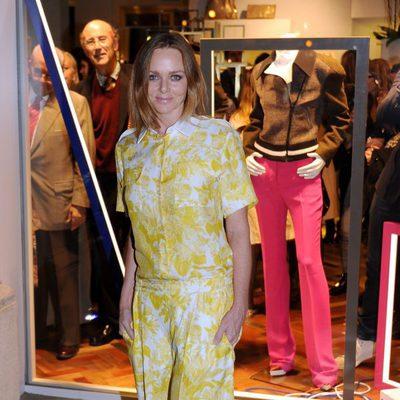 Stella McCartney en la inauguración de una de sus tiendas en Barcelona