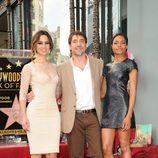 Javier Bardem, Bérénice Marlohe y Naomie Harris en el Paseo de la Fama de Hollywood