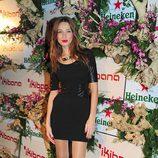 Raquel Jiménez en la inauguración del restaurante Ikibana en Barcelona