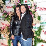 Rafael Amargo y Silvia Calvet en la inauguración del restaurante Ikibana en Barcelona