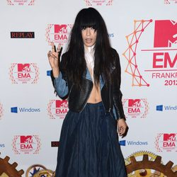 Loreen en la alfombra roja de los MTV EMA 2012