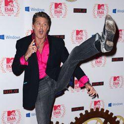 David Hasselhoff en la alfombra roja de los EMA 2012
