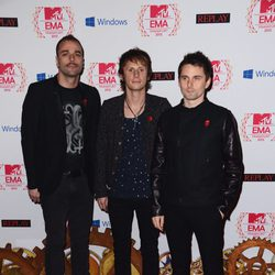 Chris Wolstenholme, Dominic Howard y Matt Bellamy, Muse, en los MTV EMA 2012
