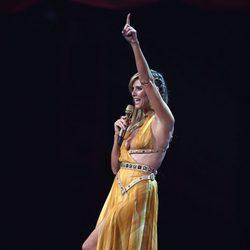 Heidi Klum presentando los MTV Europe Awards 2012
