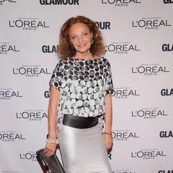 Diane von Fürstenberg en los Premios Glamour Mujeres del Año 2012