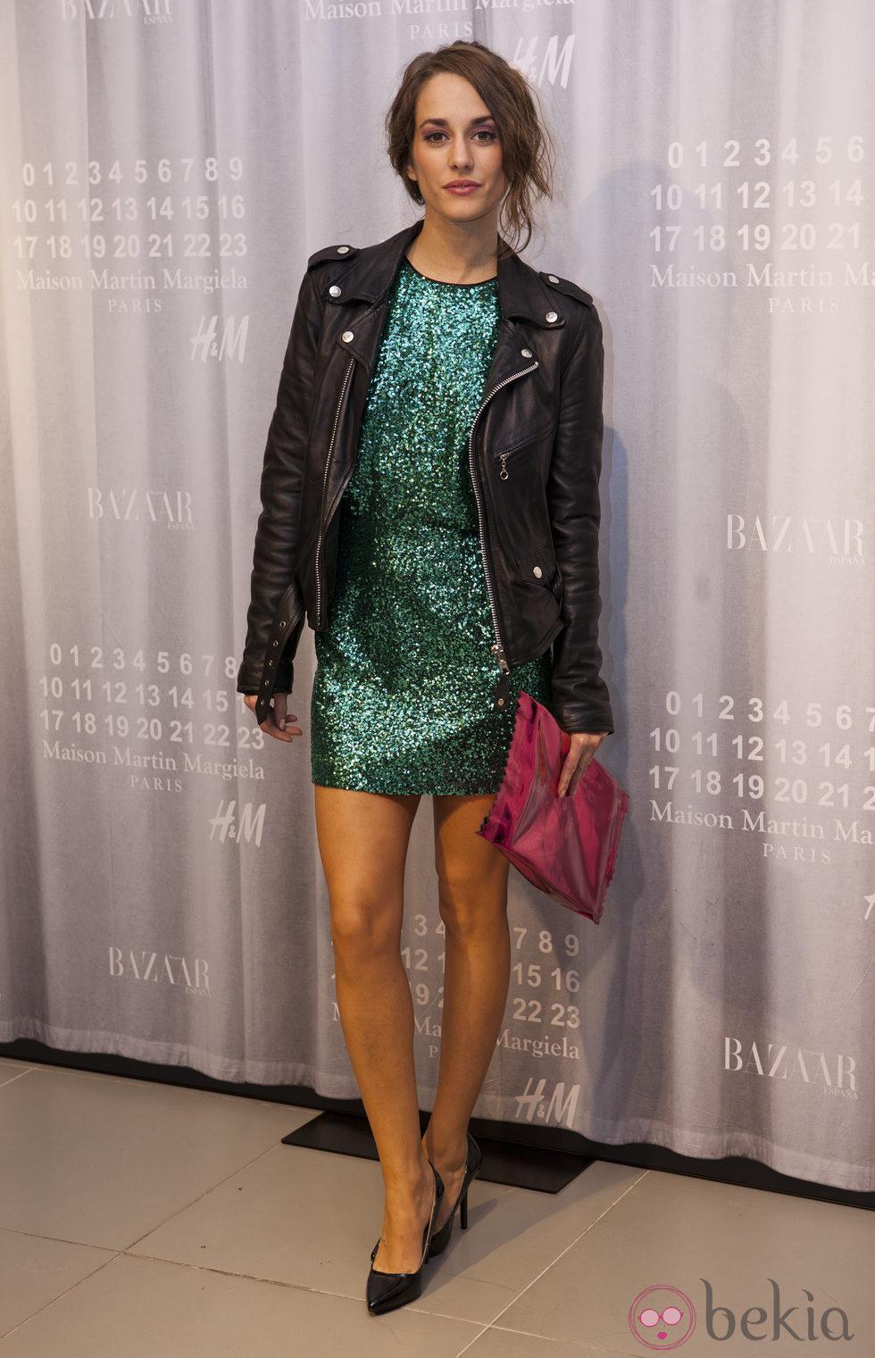 Silvia Alonso en la fiesta de Maison Martin Margiela y H&M