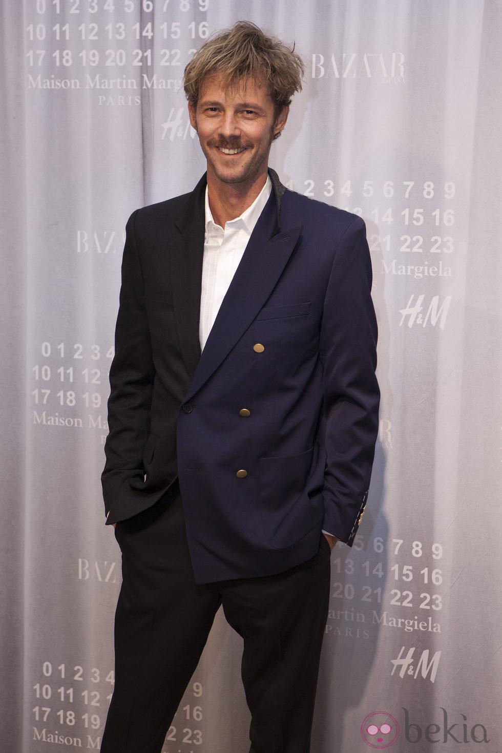 Eloy Azorín en la fiesta de Maison Martin Margiela y H&M