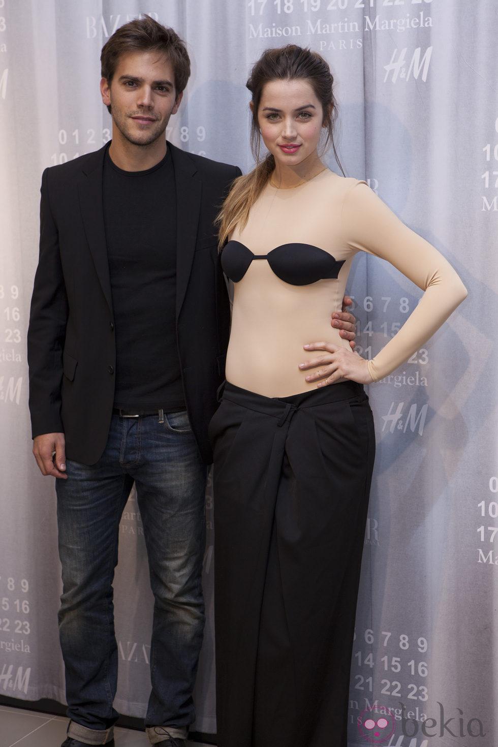 Ana de Armas y Marc Clotet en la fiesta de Maison Martin Margiela y H&M