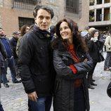 Josep Linuesa y Silvia Marsó se manifiestan con motivo de la Huelga General del 14N