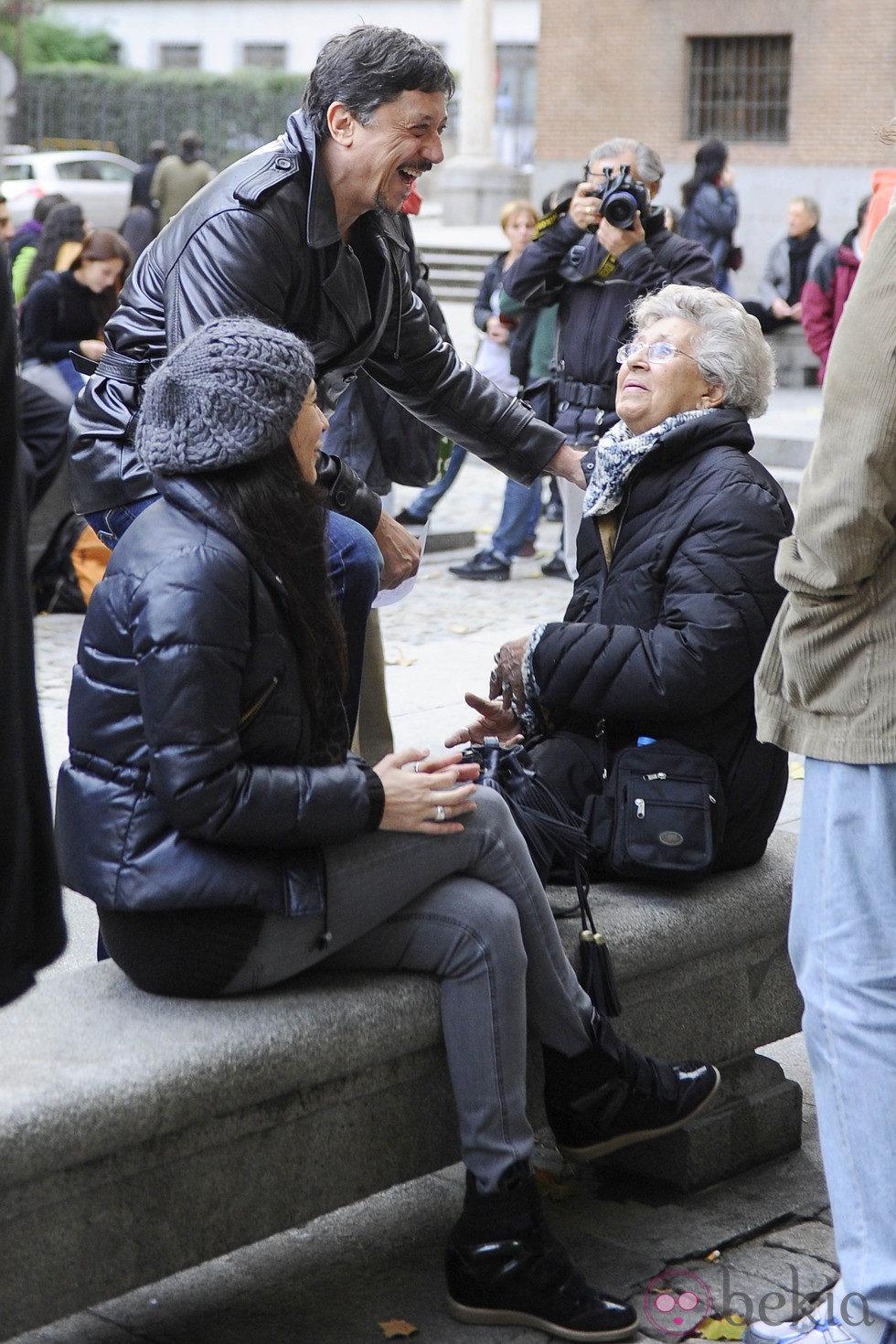 Carlos y Pilar Bardem se manifiestan con motivo de la Huelga General del 14N