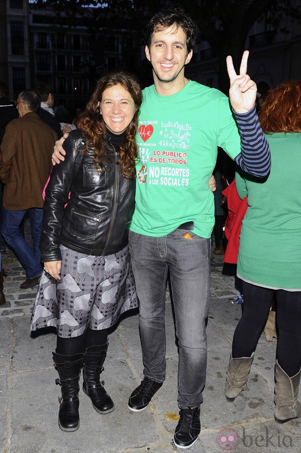 Fátima Baeza y Guillermo Ortega se manifiestan con motivo de la Huelga General del 14N