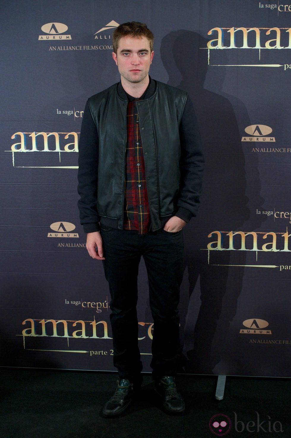 Robert Pattinson en la presentación de 'Amanecer. Parte 2' en Madrid