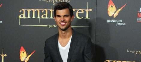 Taylor Lautner en el estreno de 'Amanecer. Parte 2' en Madrid