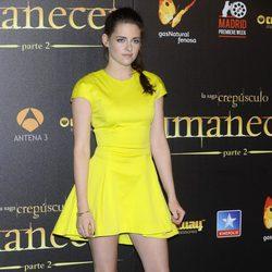 Kristen Stewart en el estreno de 'Amanecer. Parte 2' en Madrid