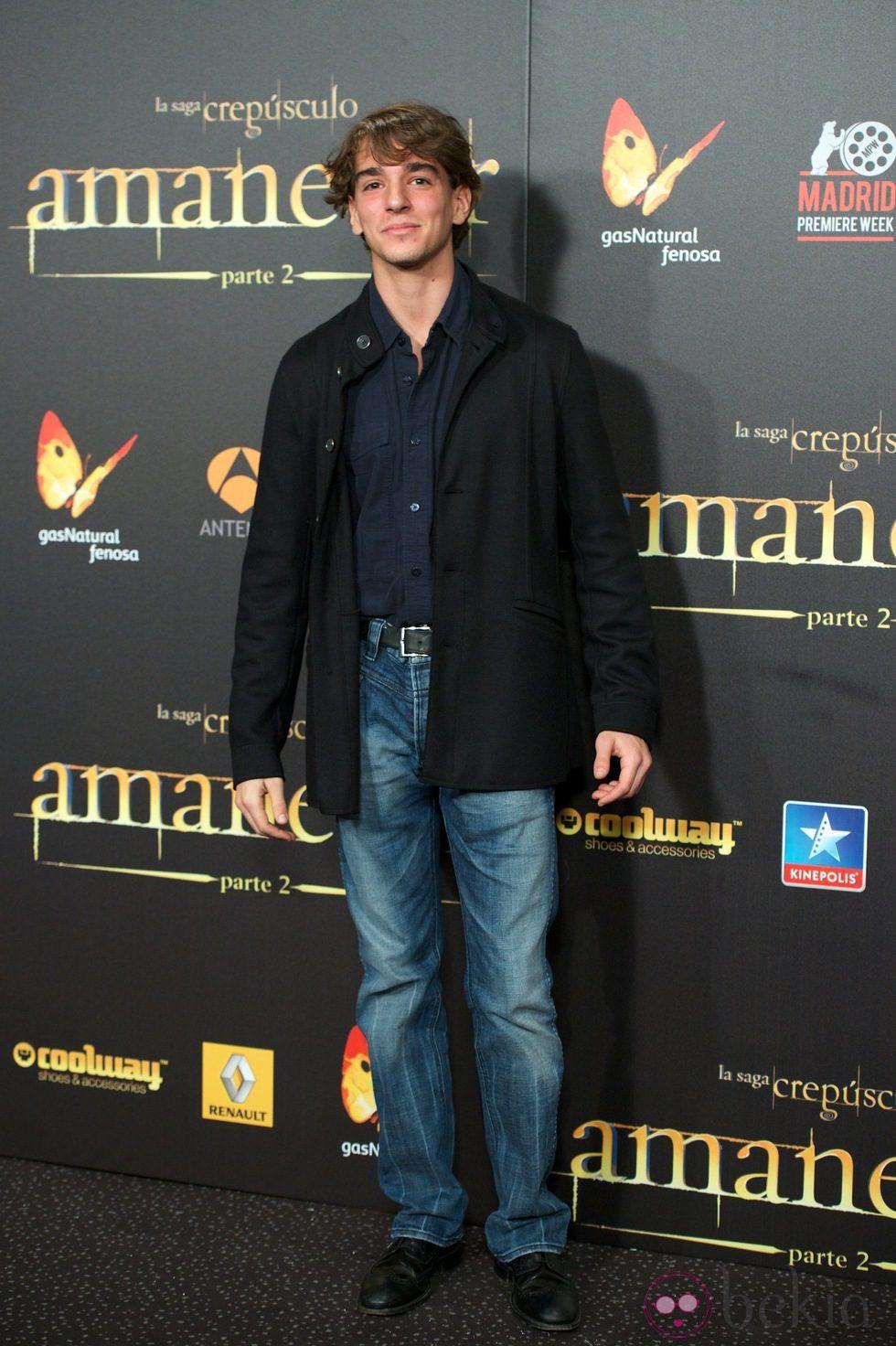 Clemente Lequio en el estreno de 'Amanecer. Parte 2' en Madrid