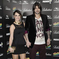 Melendi y Damaris en la fiesta de nominados de los Premios 40 Principales 2012