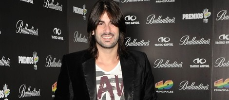 Melendi en la fiesta de nominados de los Premios 40 Principales 2012