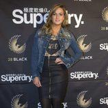 Carmen Jordá en la inauguración de la tienda 'Internacional Superdry' en Madrid