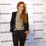 Sara Ballesteros en la inauguración de la tienda de Stradivarius en Madrid
