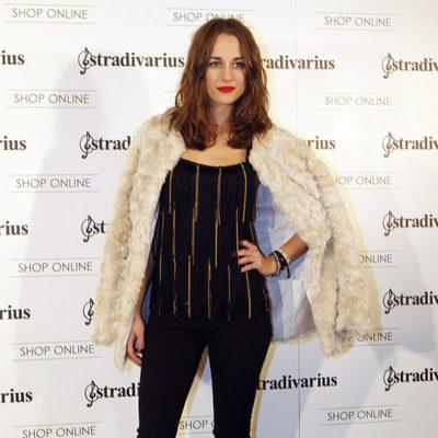Silvia Alonso en la inauguración de la tienda de Stradivarius en Madrid