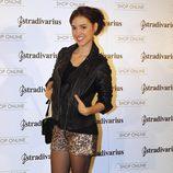Cristina Brondo en la inauguración de la tienda de Stradivarius en Madrid