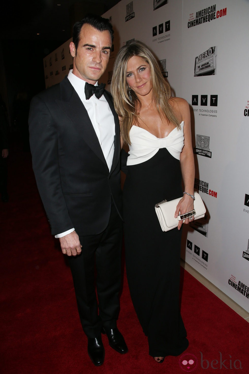 Jennifer Aniston y Justin Theroux en un homenaje a Ben Stiller