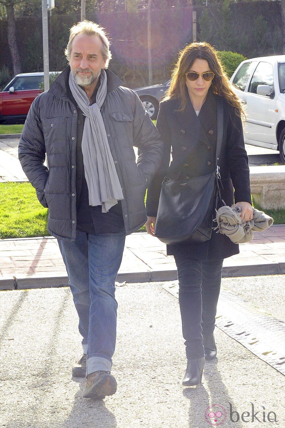 Gonzalo de Castro y Natalia Verbeke, juntos en el tanatorio de Miliki