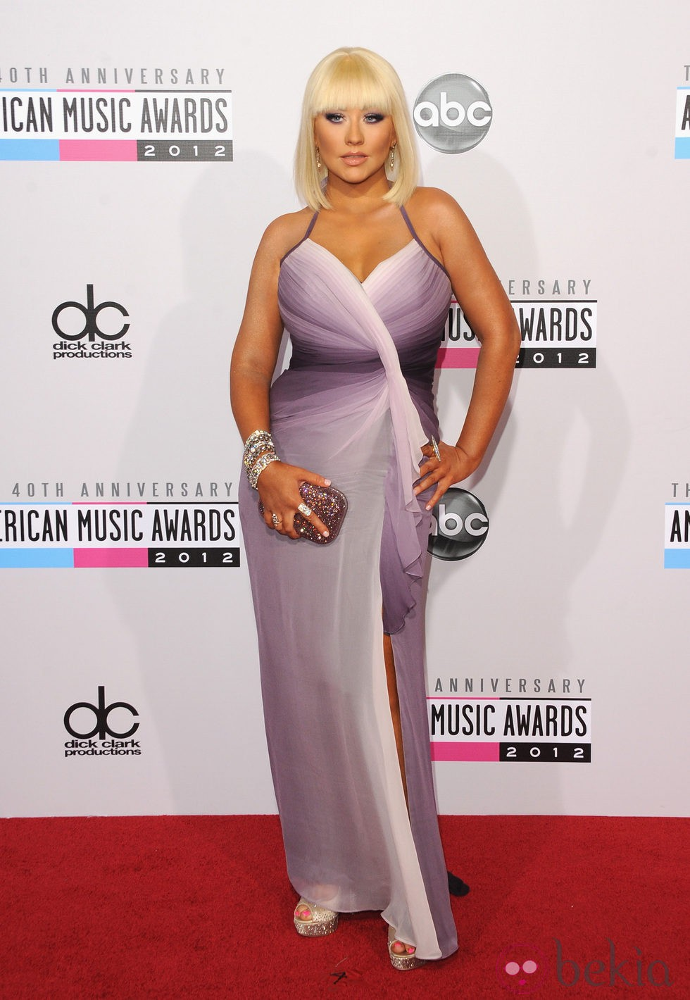 Christina Aguilera en los American Music Awards 2012