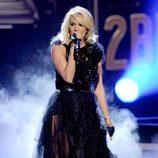 Carrie Underwood cantando en la gala de los premios American Music Awards 2012