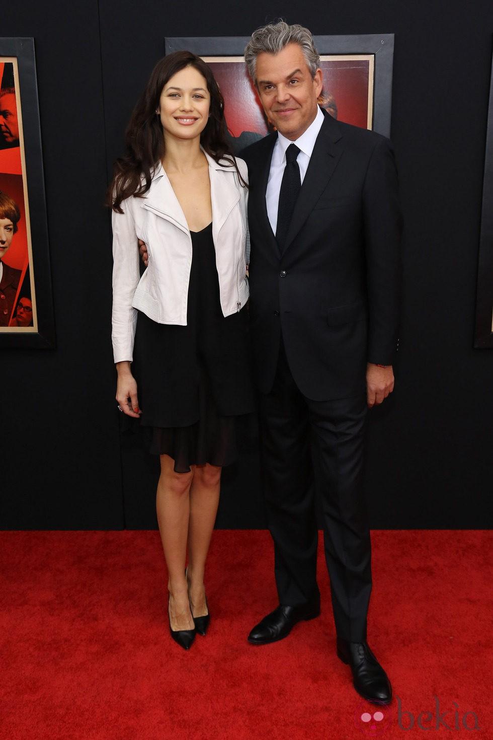 Olga Kurylenko y Danny Huston en el estreno de 'Hitchcock' en Nueva York