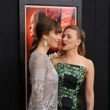 Jessica Biel y Scarlett Johansson, muy cómplices en el estreno de 'Hitchcock' en Nueva York