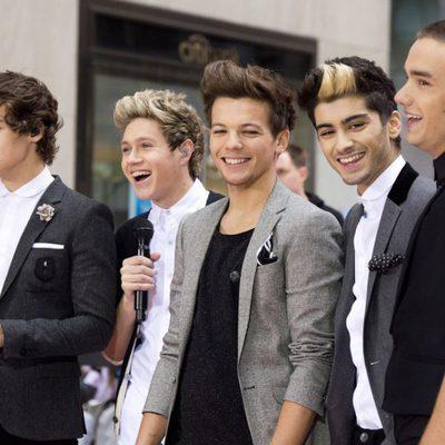 One Direction actuando para la NBC en Nueva York