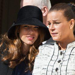 Carlota Casiraghi y la Princesa Estefanía en el Día Nacional de Mónaco 2012