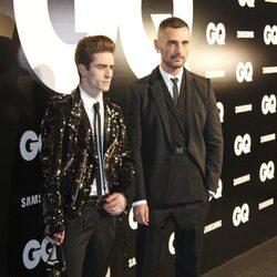 David Delfín y Pelayo Díaz en los Premios GQ Hombres del Año 2012