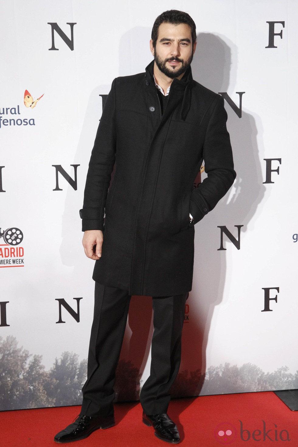 Antonio Velázquez en el estreno de 'Fin' en Madrid