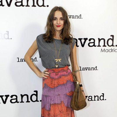 Silvia Alonso en la apertura de una tienda Lavand en Madrid