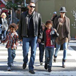 Heidi Klum prepara el Día de Acción de Gracias con Martin Kirsten y sus hijos