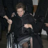 Rita Álvarez en el funeral de Miliki