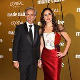 Imanol Arias e Irene Meritxell en los Premios Prix de la Moda de Marie Claire 2012