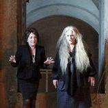 Terele Pávez y Carmen Maura en el rodaje de 'Las brujas de Zugarramurdi'