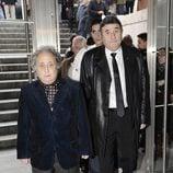 Pepe Carabias en el funeral de Tony Leblanc