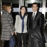 Andrés Burguera y Mari Cielo Pajares en el funeral de Tony Leblanc