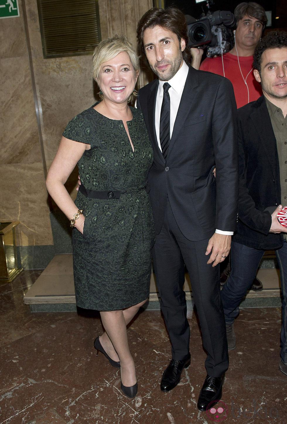 Inés Ballester y Fernando Ramos en la entrega de los Premios Talento 2012