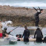 Jennifer Lawrence se tira al agua en el set de 'Los Juegos del Hambre: En llamas'