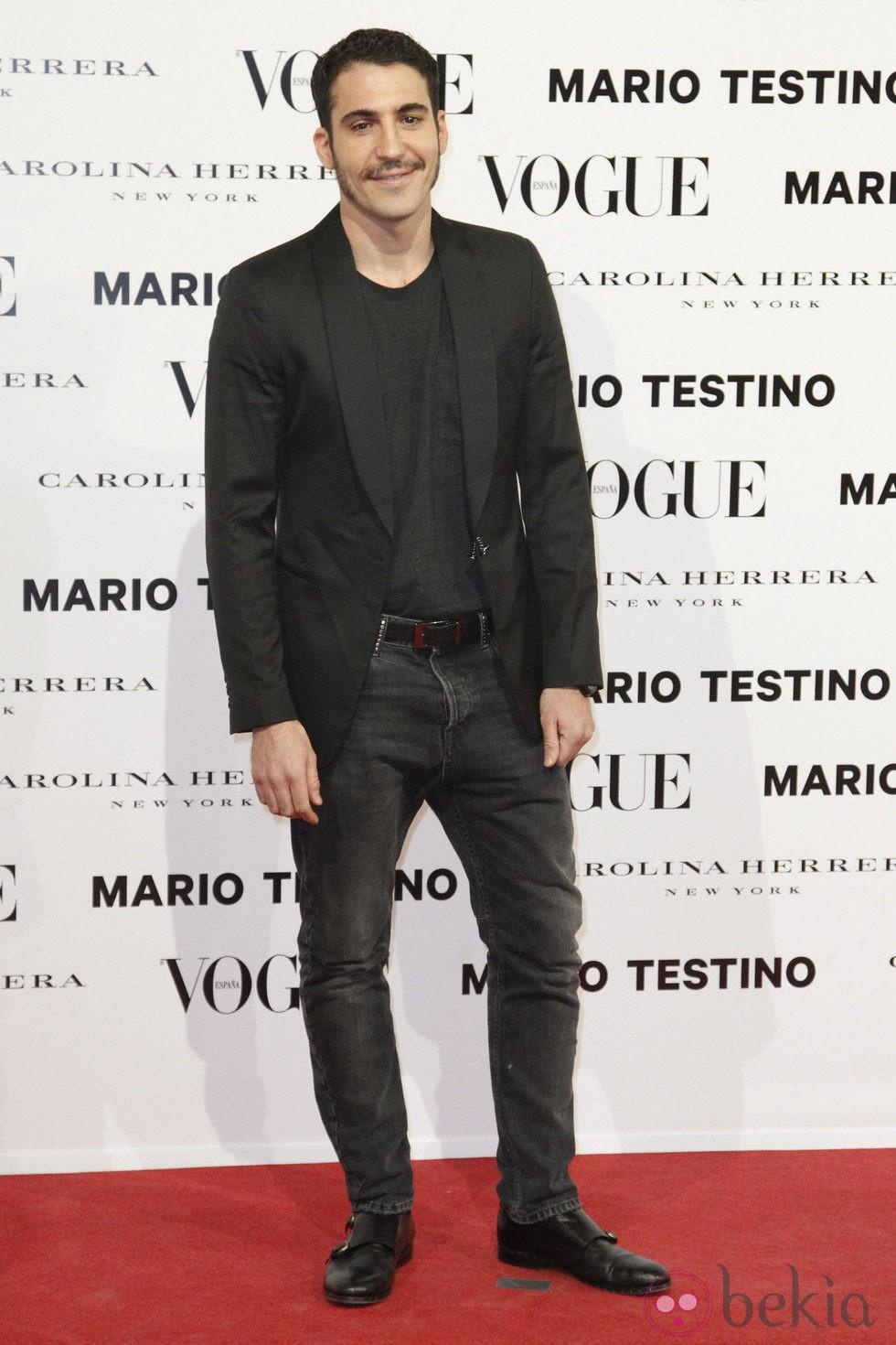 Miguel Ángel Silvestre en la presentación del número de diciembre 2012 de Vogue España