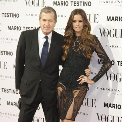 Izabel Goulart y Mario Testino en la presentación del número de diciembre 2012 de Vogue España
